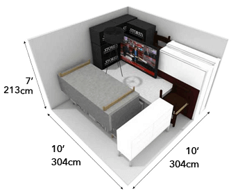 100 square foot storage unit
