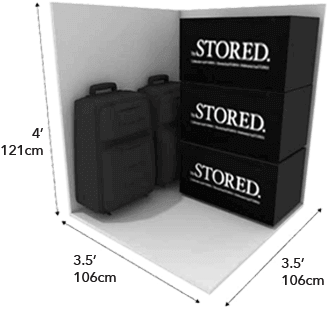 12 square foot storage unit