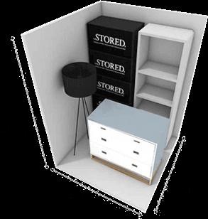 25 square foot storage unit