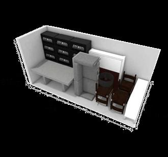 75 square foot storage unit