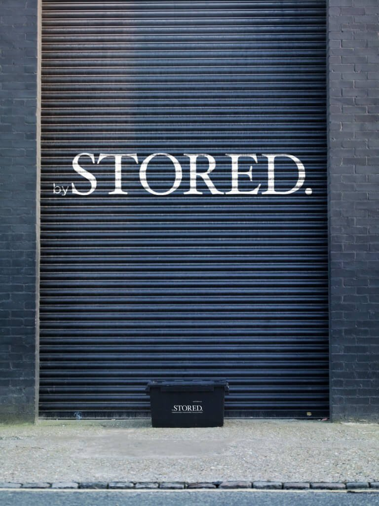 Storage box outside of STORED's storage facility in London.