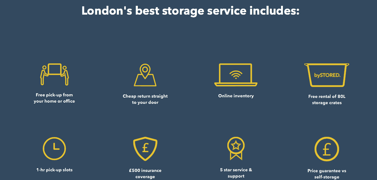 STORED Add-on Services. Illustration.