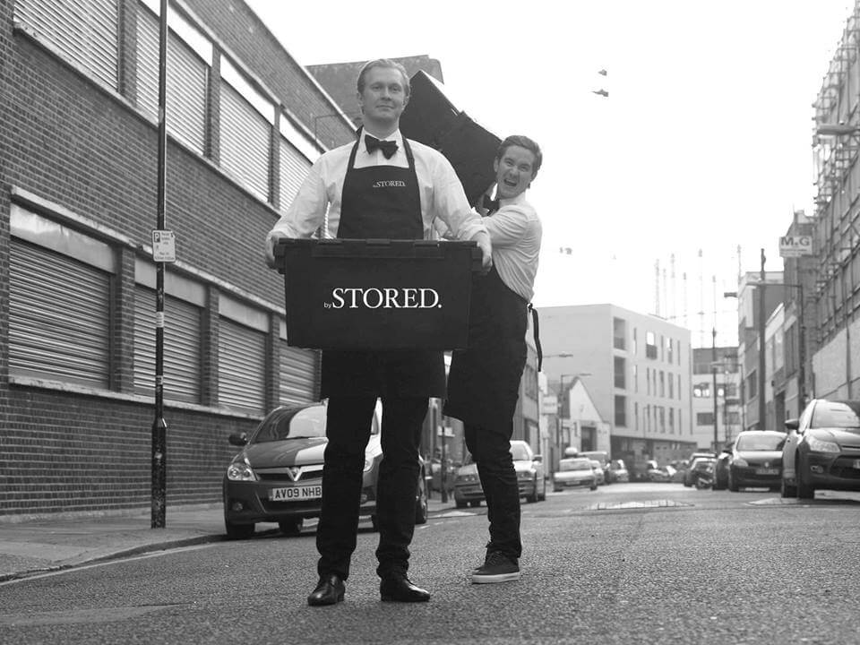 STORED Founders standing on a street of London.
