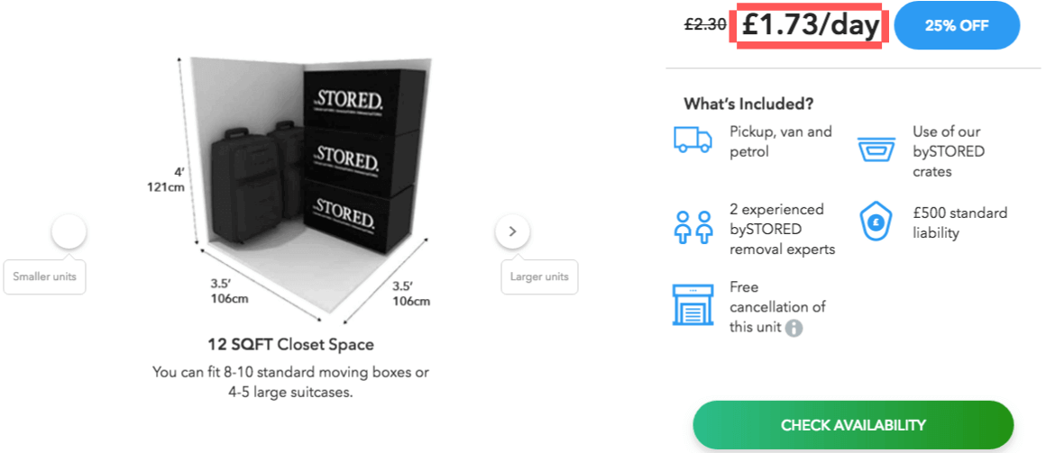 HOW MUCH DOES LONG TERM STORAGE COST