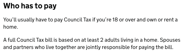 How Has to Pay the Council Tax?