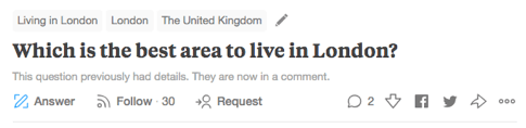Which is the Best Area to Live in London?