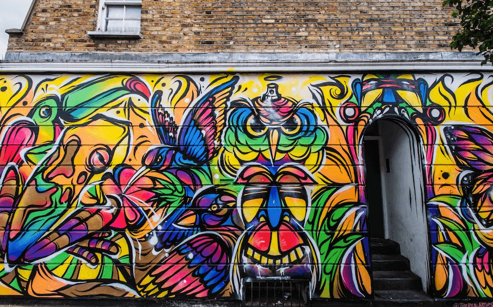 Graffiti in Camden Town, London.