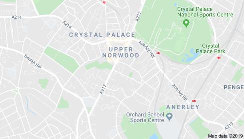 Crystal Palace on Google Maps.