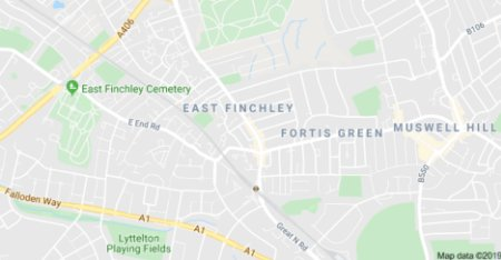 East Finchley on Google Maps.