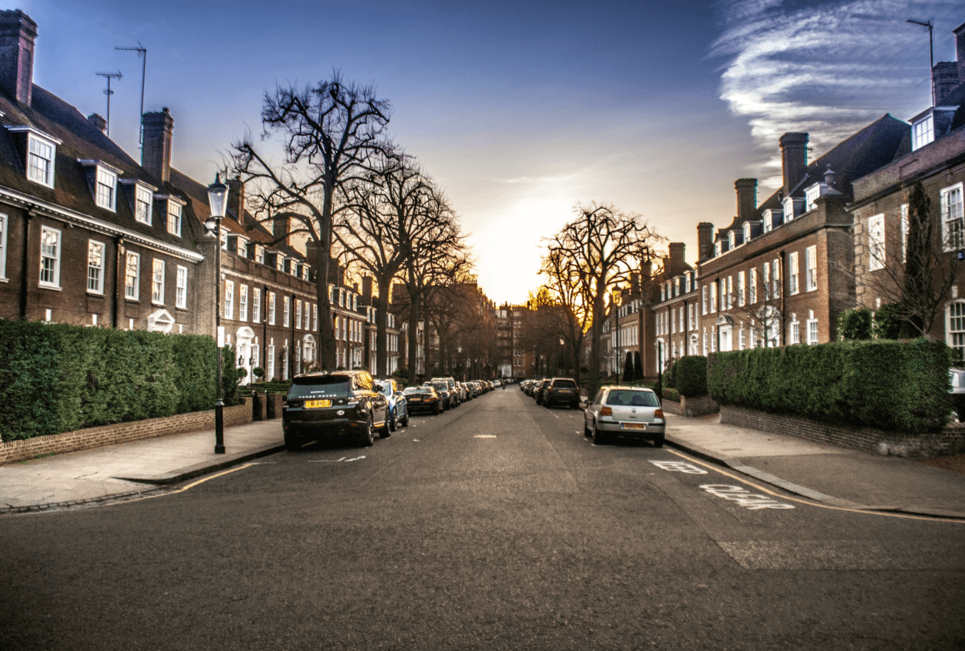 Residential Street in London.