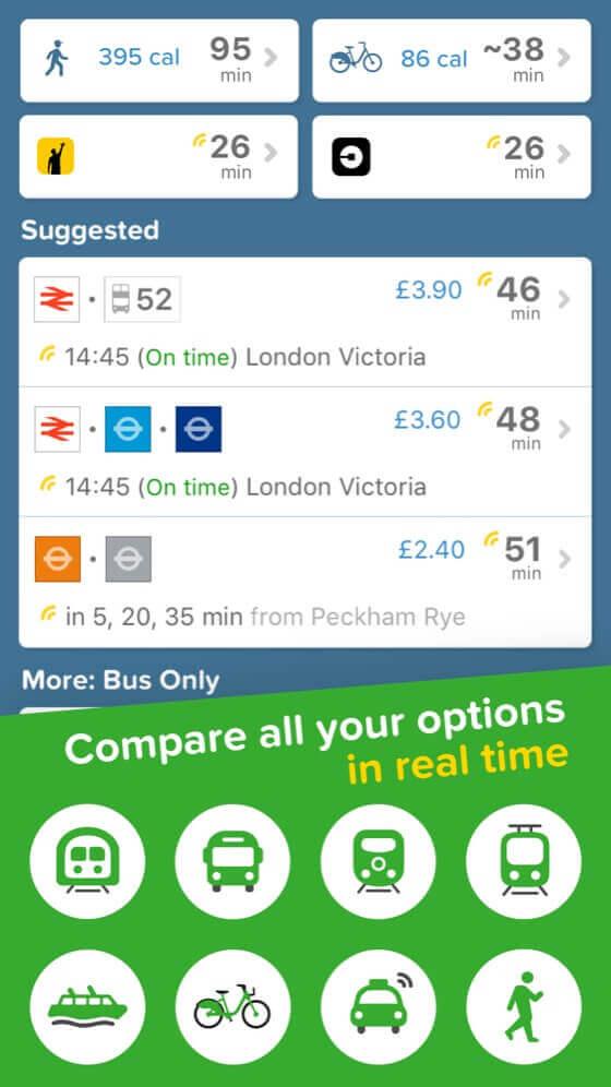 Citymapper London. App Screenshot.