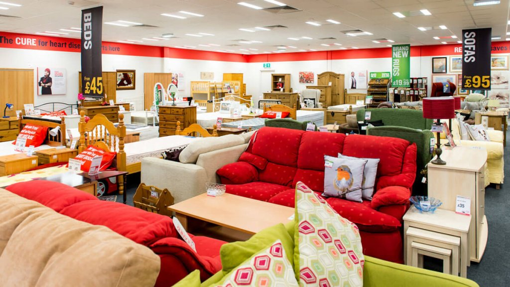 British Heart Foundation Furniture and Eletrical Stores
