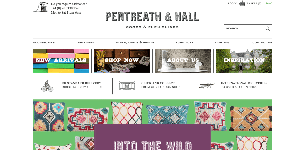 Pentreath & Hall Website. Screenshot.