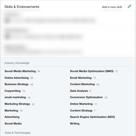 Skills & Endorsements on LinkedIn