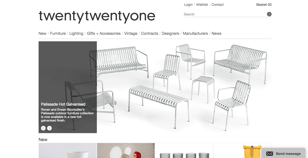 twentytwentyone Website. Screenshot.