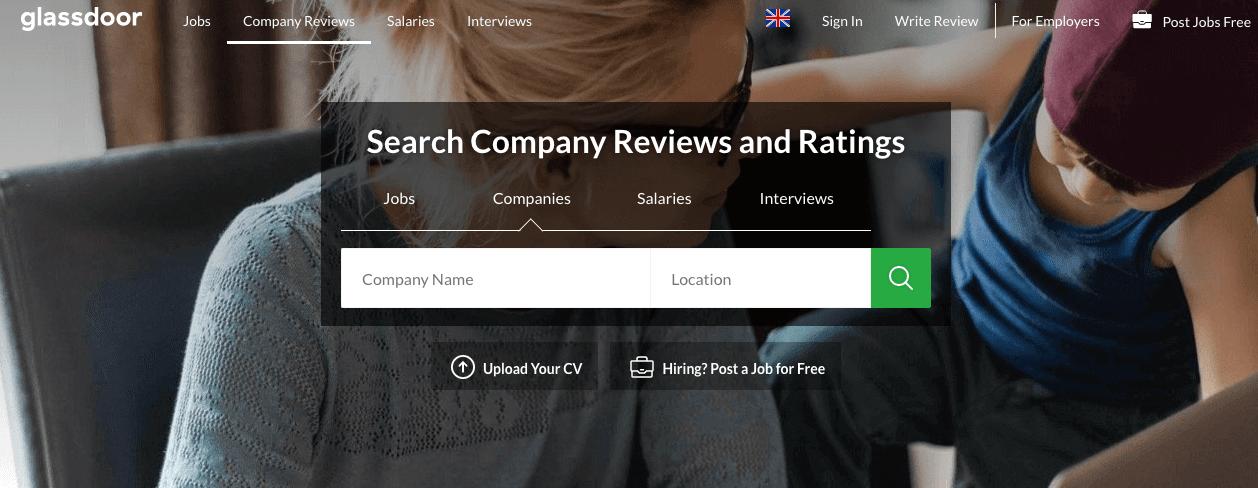 Glassdoor Company Reviews