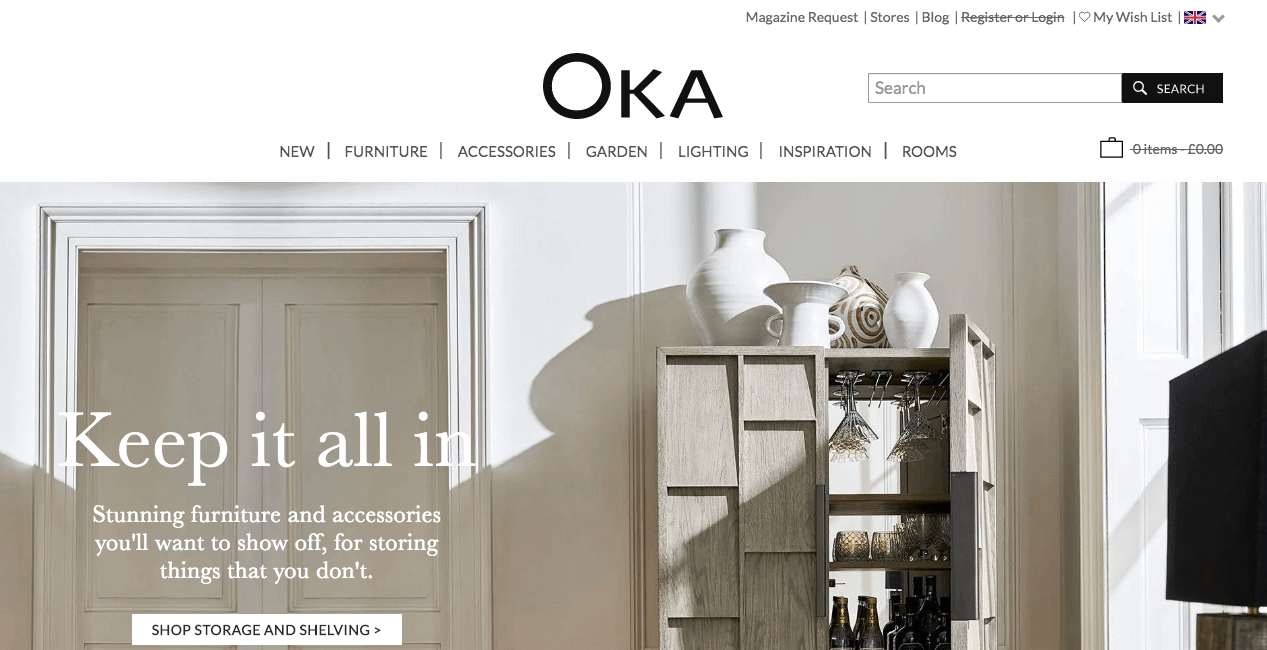 OKA Website. Screenshot.