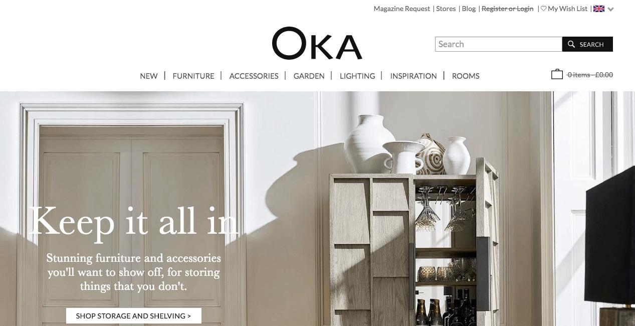 OKA Website. Screenshot.