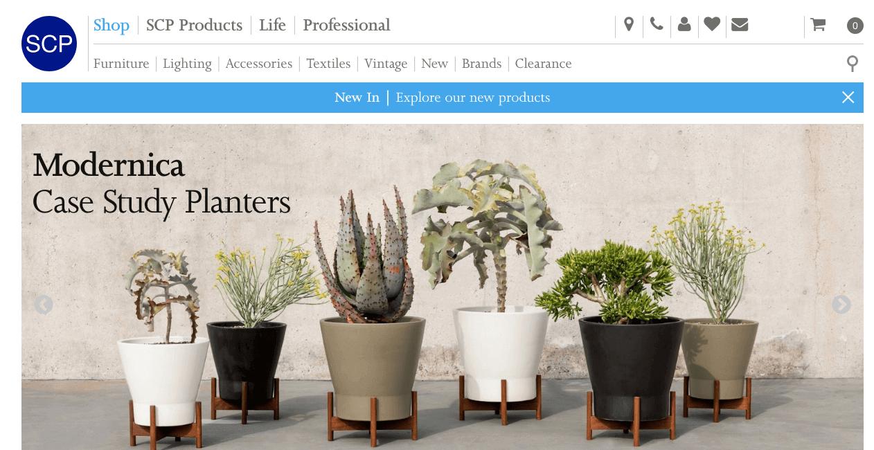 SCP Website. Screenshot.