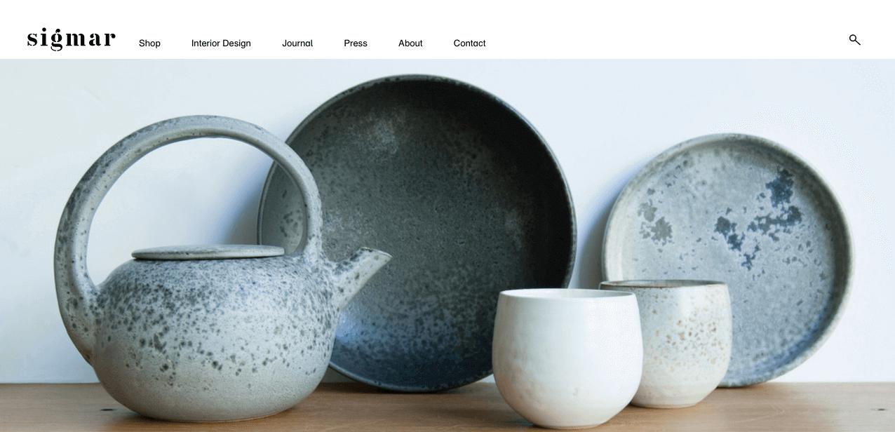 Sigmar Website. Screenshot.