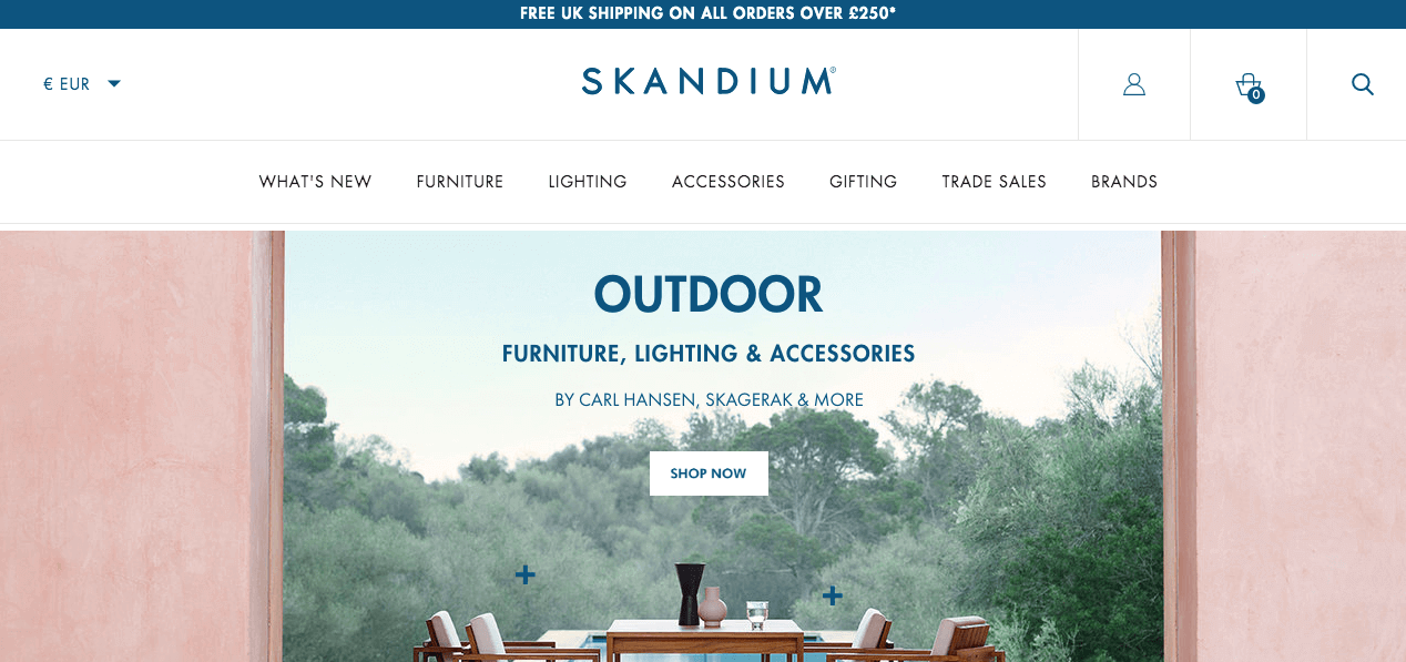 Skandium Website. Screenshot.