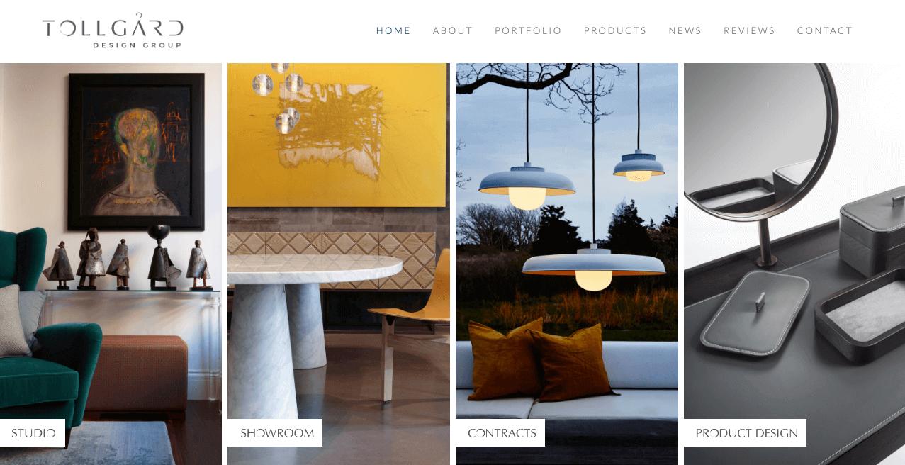 Tollgard Design Group Website. Screenshot.