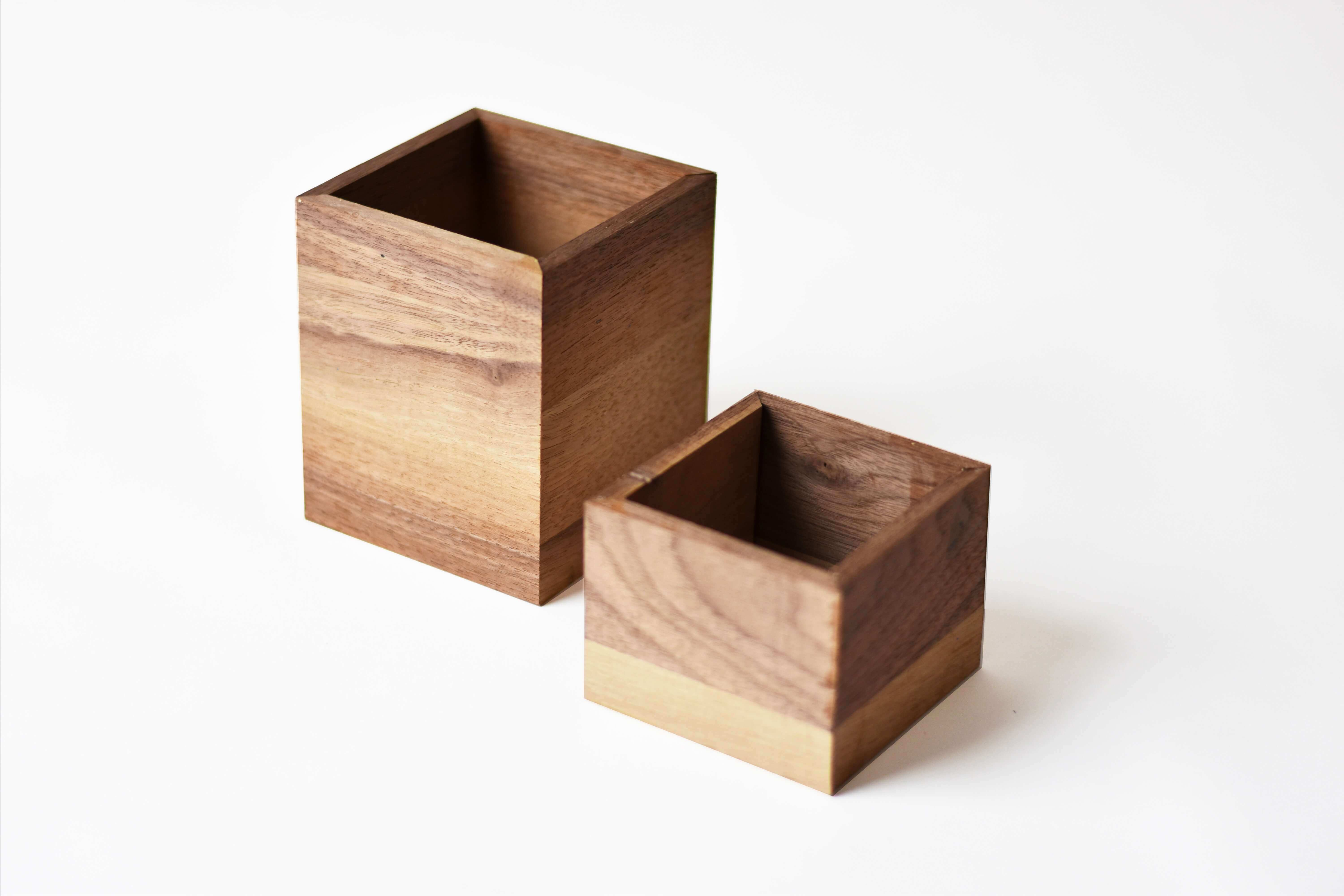 Two Wooden Boxes.