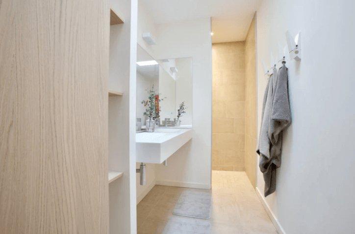 Hooks Inside Bathroom for Towels.