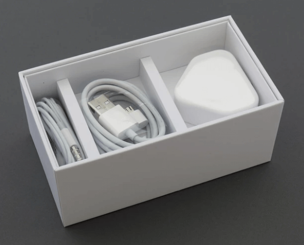 A charger in a box.