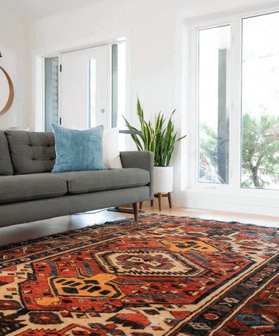 Rug Inside a Living Room.