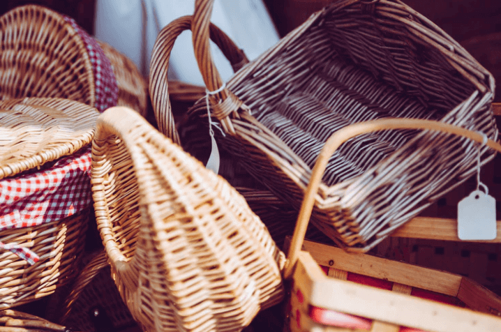 Baskets for storage.