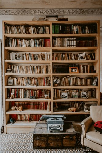 Bookcase Full of Books.