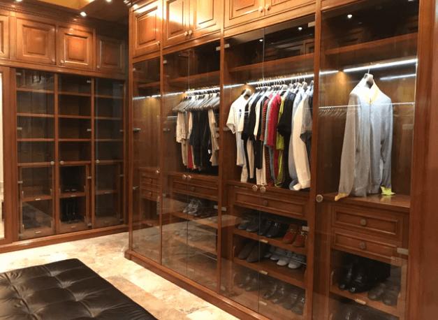 Closet Shelving.