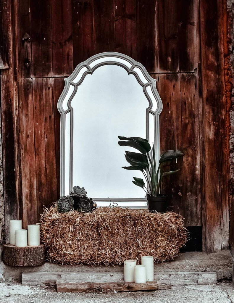 Use A Mirror Outside To Make Small Areas Look Bigger.