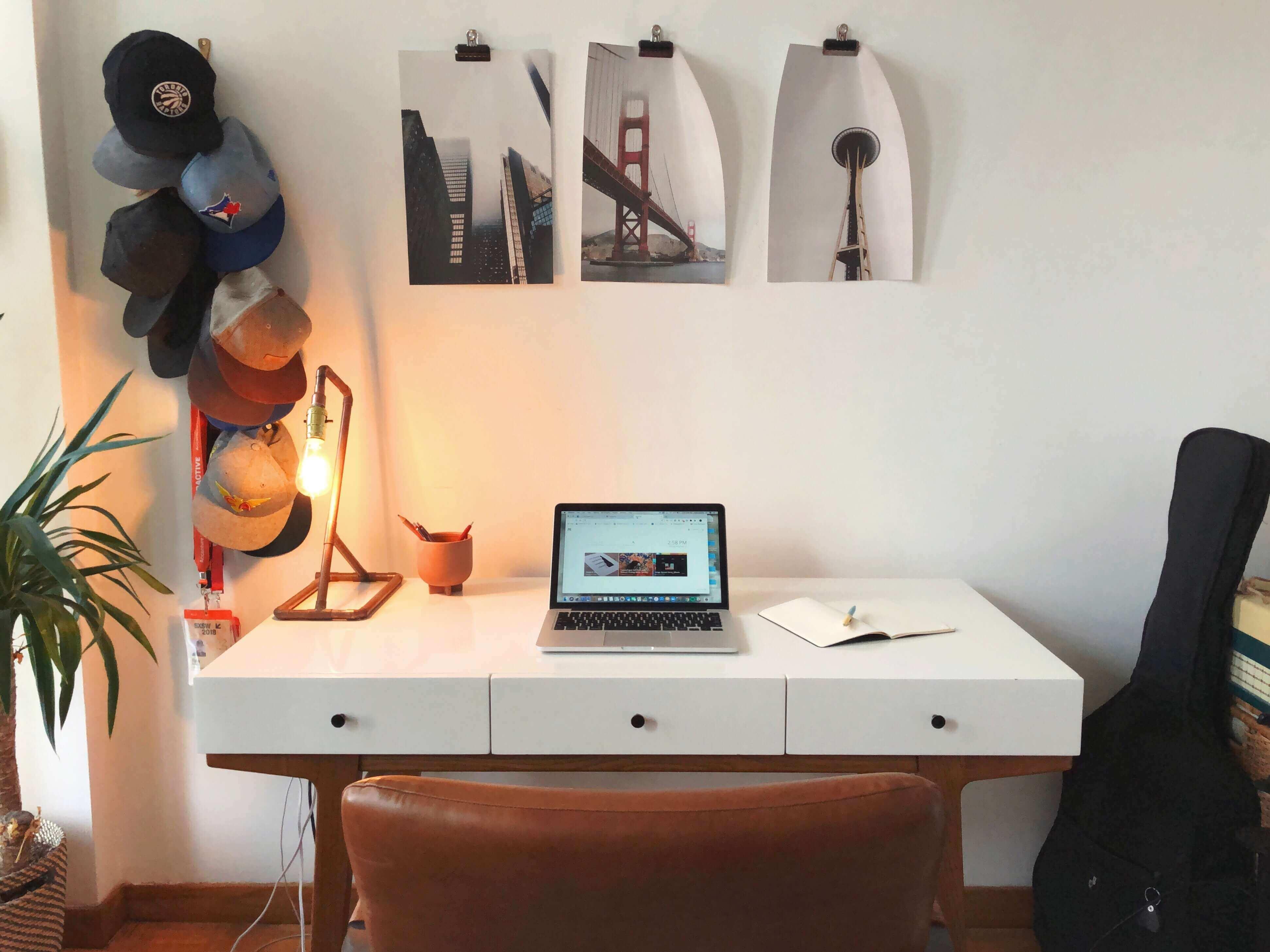 Compact desk.