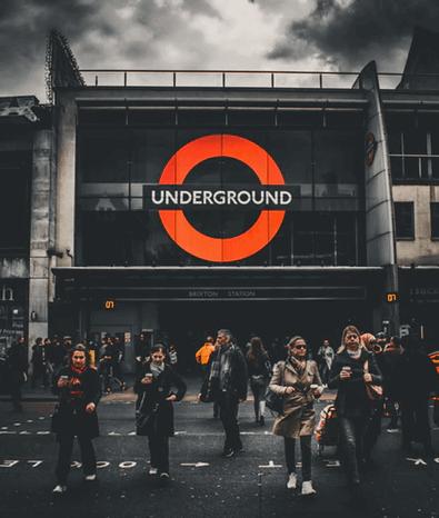 Morning Commute in London.